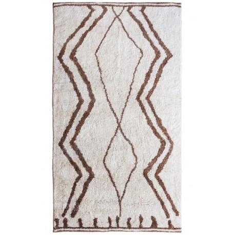Alfombra de lana de origen Indio en colores claros
