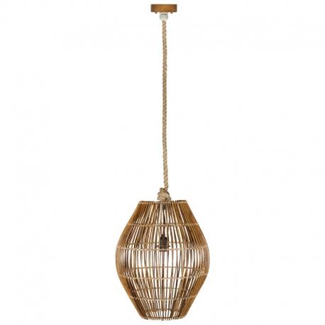 Lámpara de techo de ratán Cane b