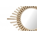 Espejo de pared fabricado de Rattan redondo