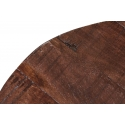 Mesa auxiliar de madera con forma de tronco
