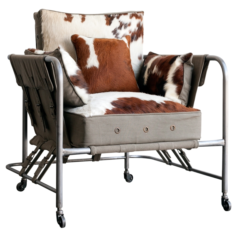 Sillón de relax mullido con tapizado animal Sáhara