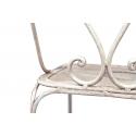 Silla de jardín de forja metálica color blanco Chloe