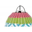 Lámpara de techo trenzada de aire tropical