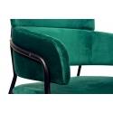 Taburete tapizado con respaldo Strike color verde