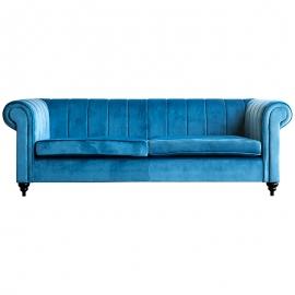 Sofá Terciopelo Azul Cobalto