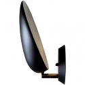 Aplique de pared negro diseño Grossman forma de cabeza cobra