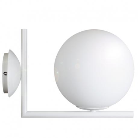 Aplique de pared blanco con Bola de cristal