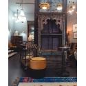Taburete de bar con asiento de forma de Tambor
