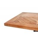 Mesa café de 60x60cm fabricada en madera de acacia