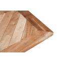 Mesa de bar de madera de Acacia con pie central metálico 70x70cm