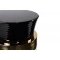 Mesa de Diseño Auxiliar negra y dorada Pia