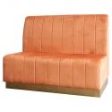 Banco Corrido terciopelo color naranja Lucio