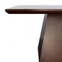 Mesa comedor cuadrada realizada en madera oscura Pietro