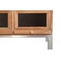 Vitrina de madera de teca con 18 espacios para guardar objetos