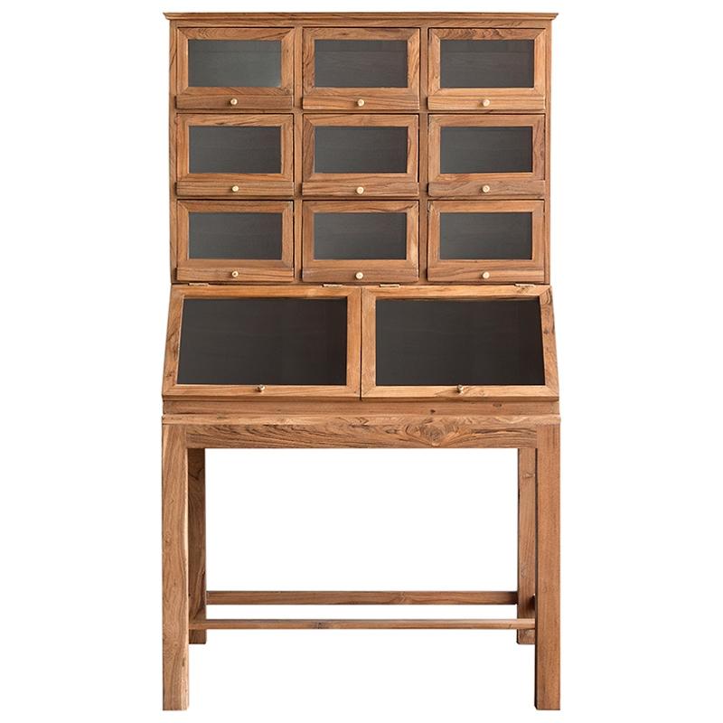 Mueble secreter en madera de teca - Muebles de madera teca ...