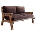 Sofá de Pana y estructura de madera