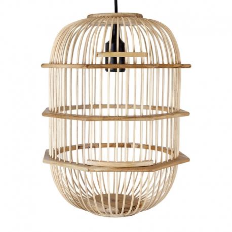 Lámpara de madera con forma de Pajarera