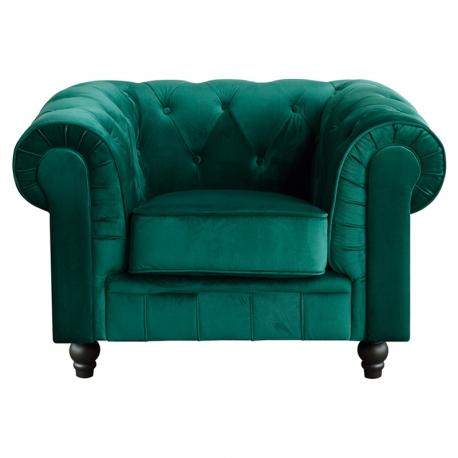 Butaca Chester tapizado en Terciopelo Verde