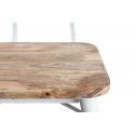 Silla vintage de madera Jean con estructura metálica blanca