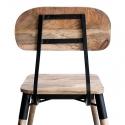 Silla de madera vintage Jean con estructura metálica y negra