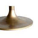Mesa  de comedor de Mármol negro y pie central color dorado Brass