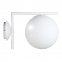 Aplique de pared blanco con Bola de cristal