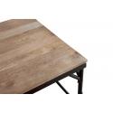 Mesa con sillas de comedor de piel de estilo industrial Brick Lane