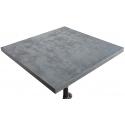 Mesa de bar de sobre con efecto Cemento Alta y pie central 4 uñas