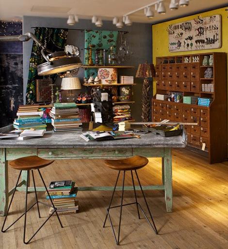 Decoraci n e ideas para mi hogar oficinas vintage en casa for Decoracion oficinas vintage