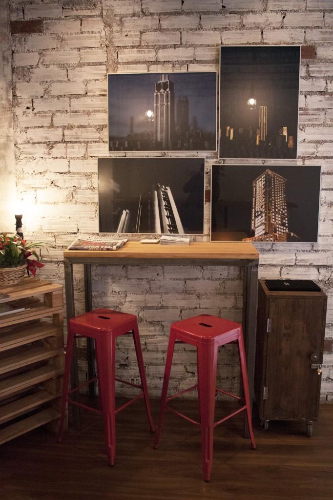 Mobiliario de estilo industrial.