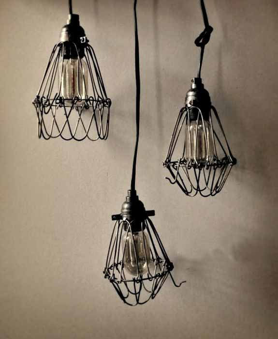 Lámparas estilo industrial Pinterest.