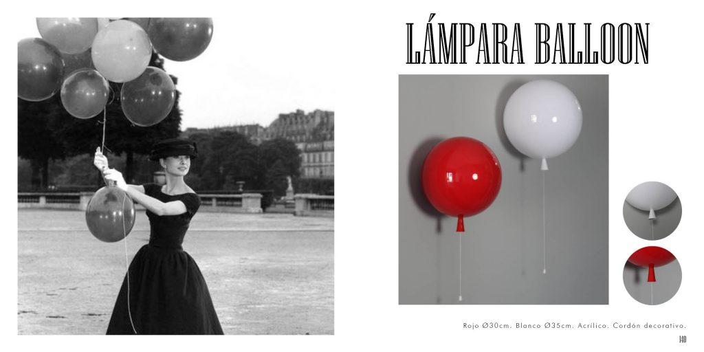 Lámparas de diseño con forma de globos infantiles