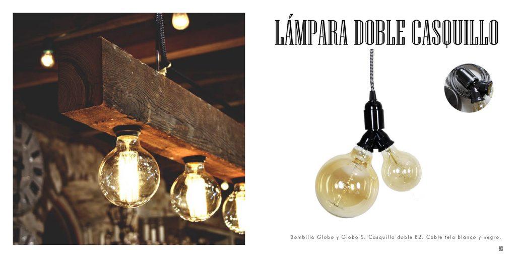 Iluminación vintage de bombillas de filamentos