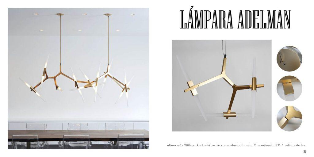 Lámpara Adelman de diseño con tubos Led originales