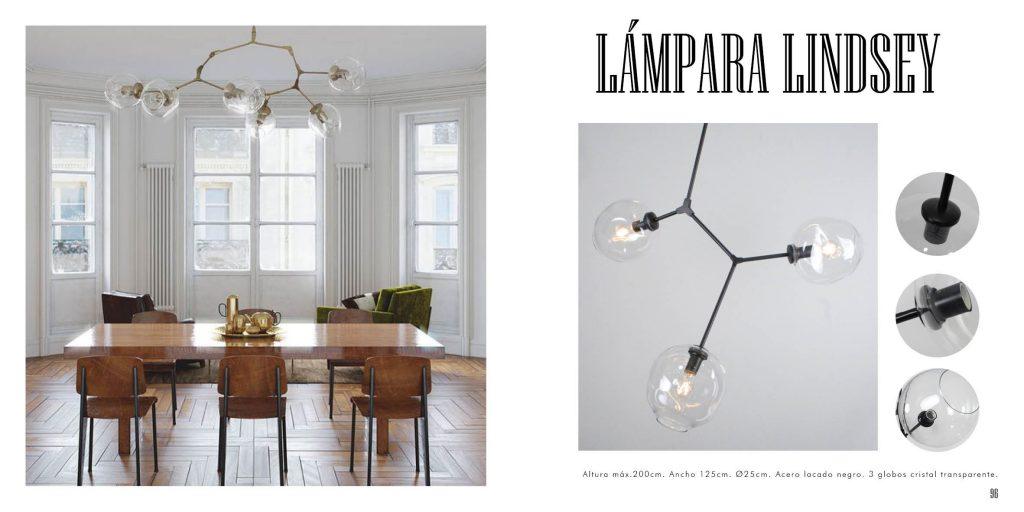 Lámpara diseño globos de cristal