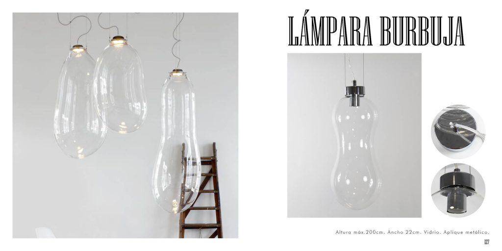 Lámpara burbuja con diseño en cristal