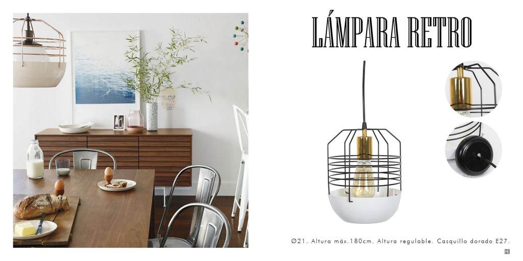 Lámpara retro de diseño