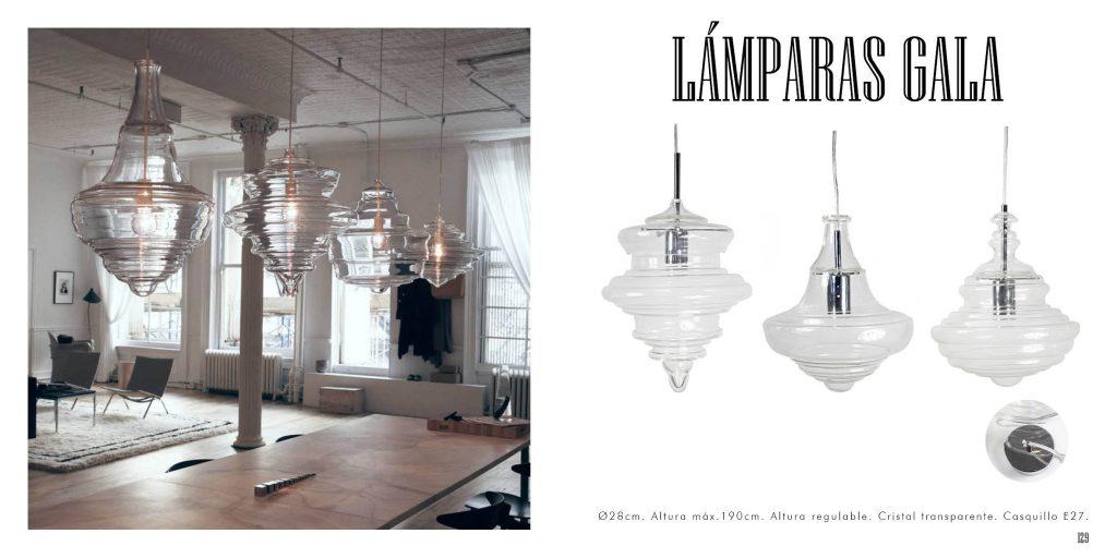 Lámpara de cristal familia