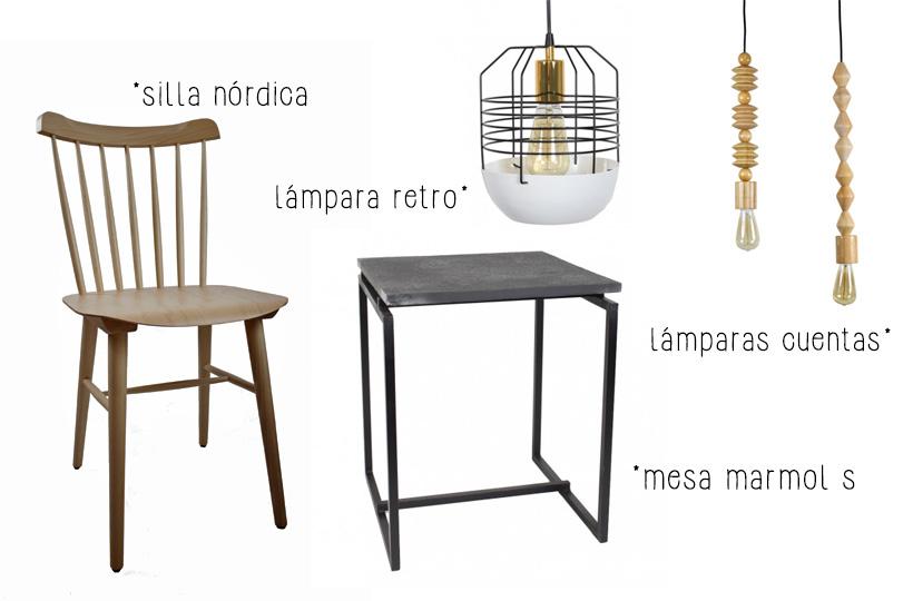 mobiliario singular market de estilo vintage e industrial