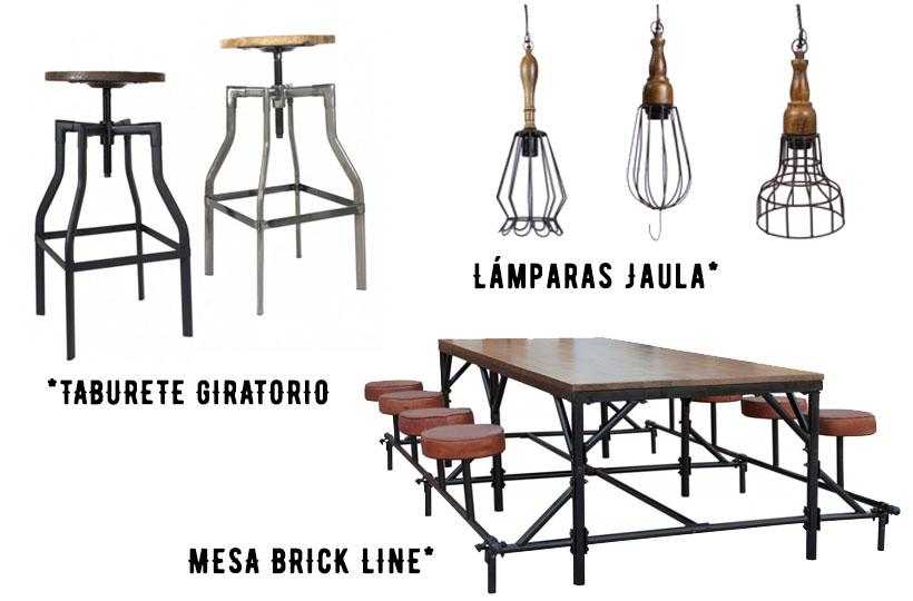 Mobiliario de estilo vintage e industrial perfecto para hostelería.