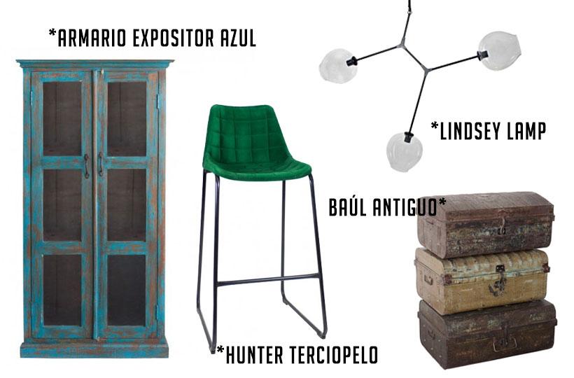 mobiliario vintage e industrial