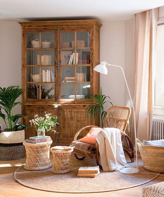 Muebles vitrina madera