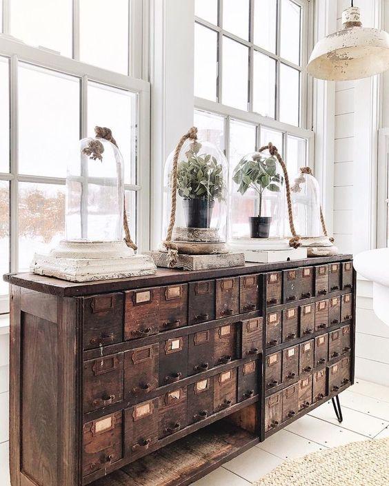 Muebles cajonera madera