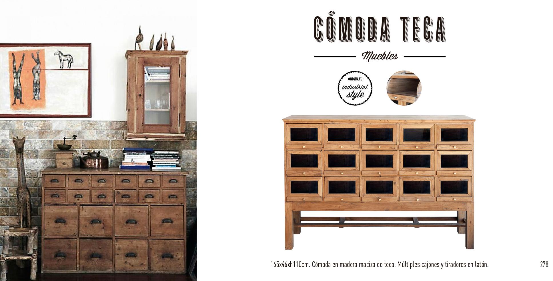 Mueble Cómoda madera de teca