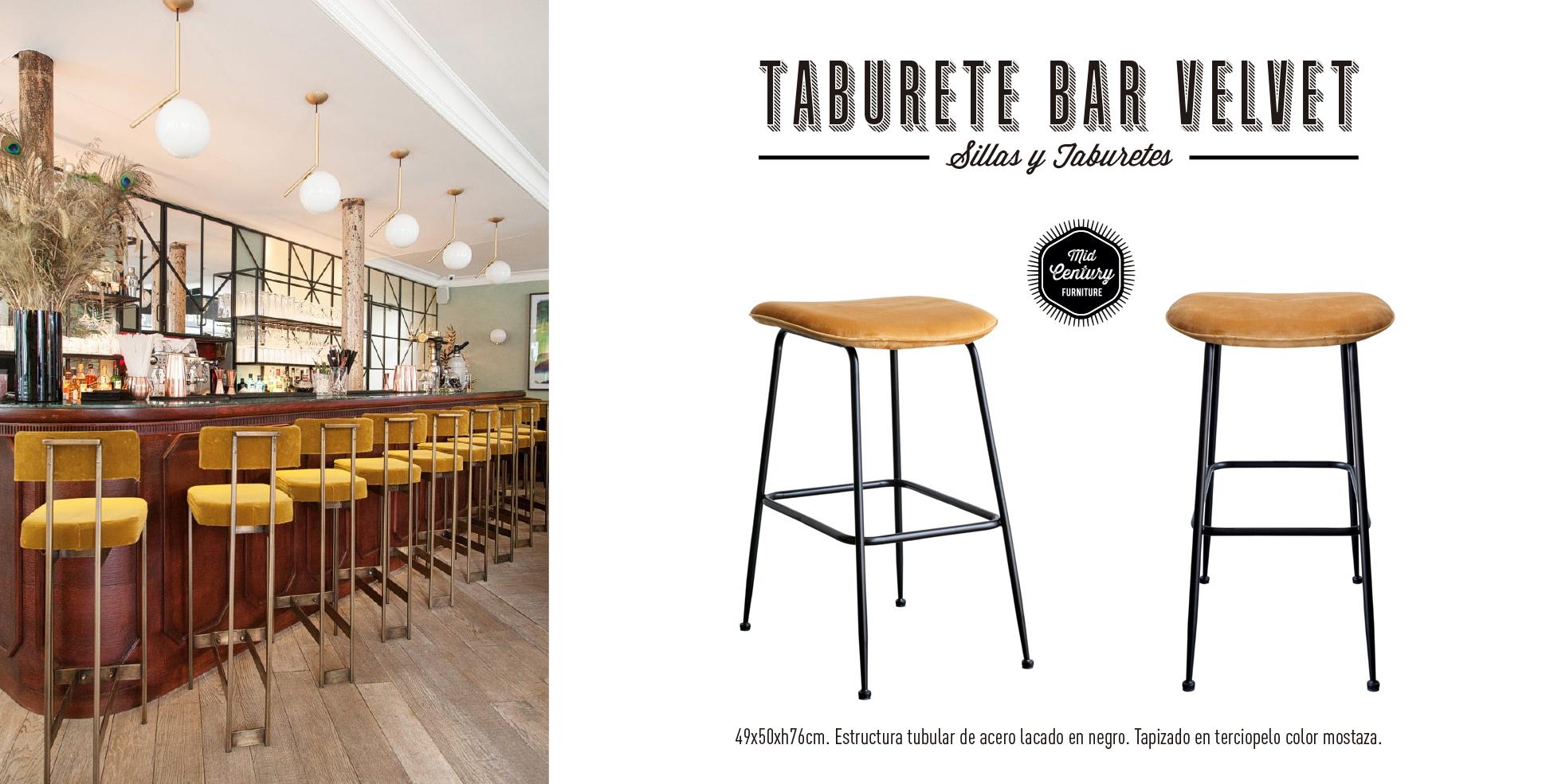 Taburete Bar Velvet Beetle