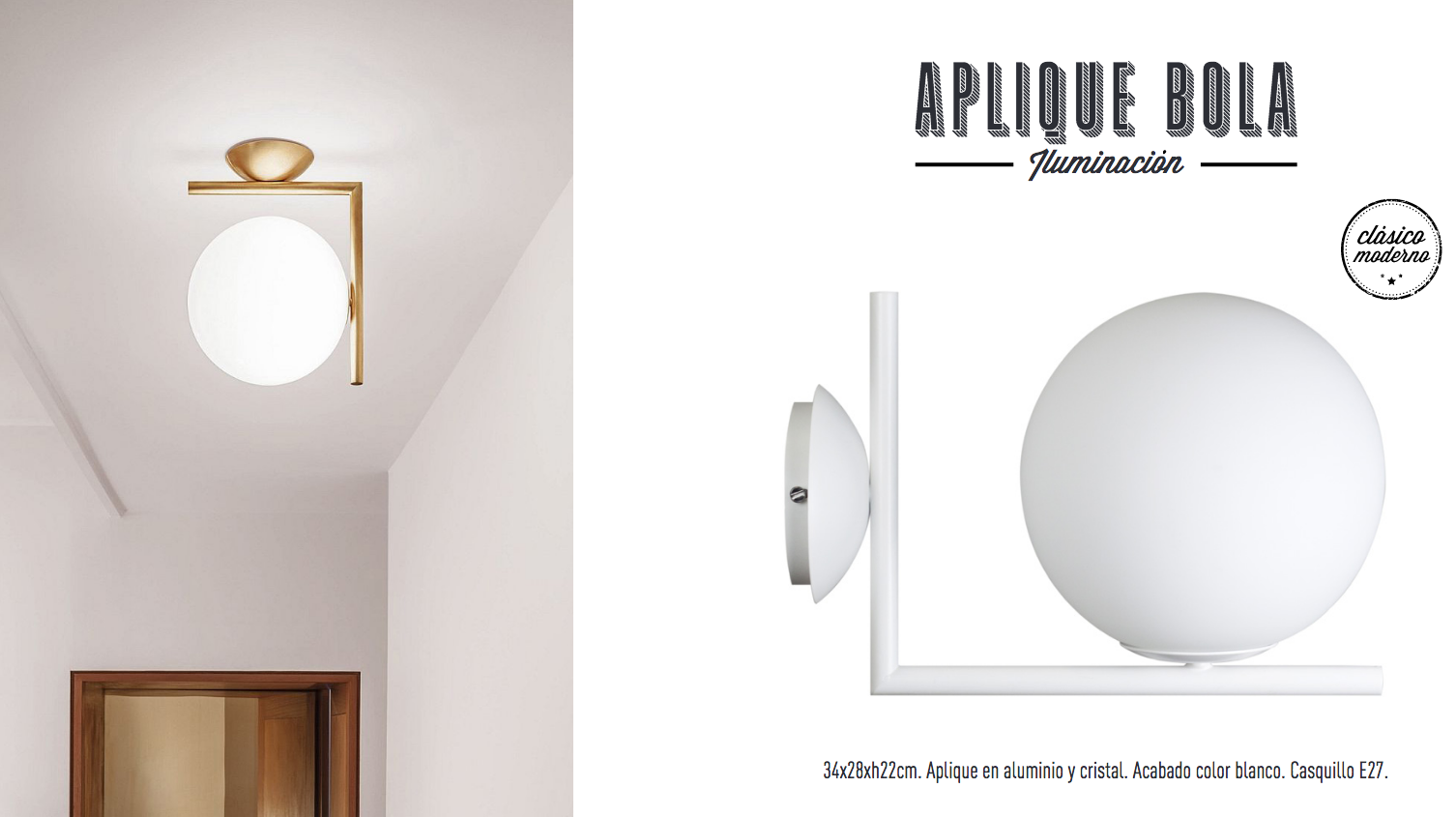 Aplique de pared IC Lights C/W de Michael Anastassiades.