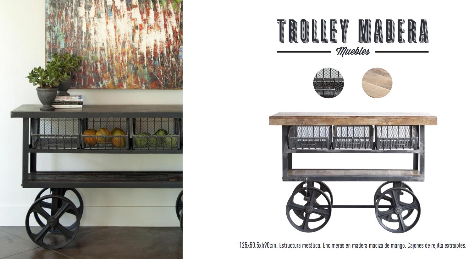 Trolley Madera