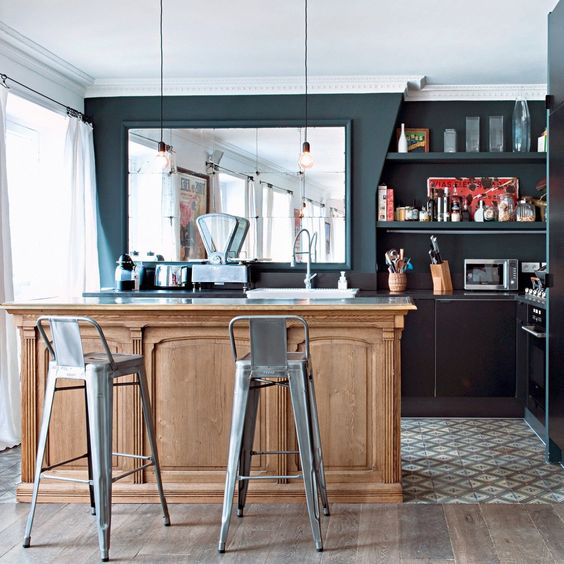 barra de bar en la cocina
