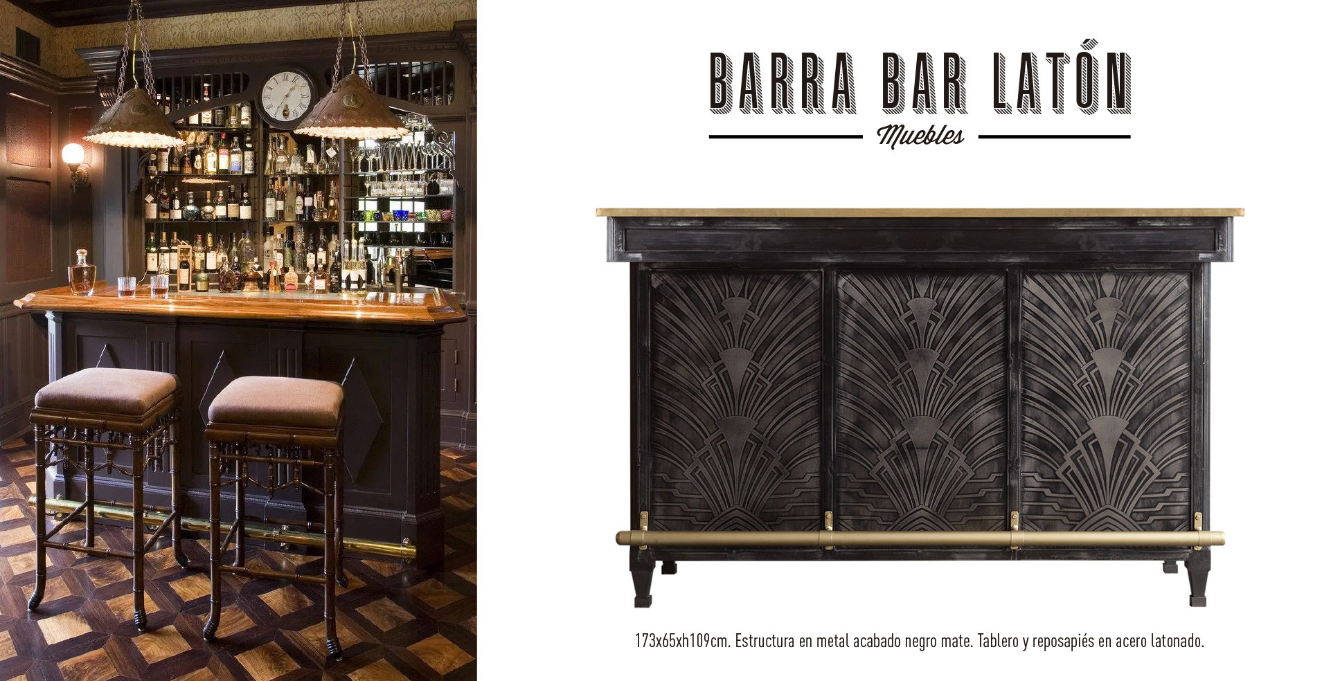 barra bar latón