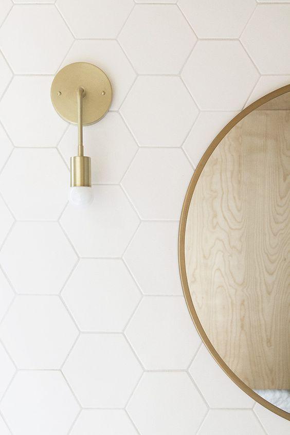 Aplique Diseño Dorado para baño